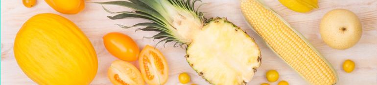 Las ventajas de las verduras y frutas amarillas