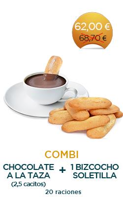 Pack Chocolate a la taza + Bizcocho de soletilla