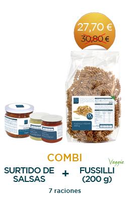 Fussilli (200 g) + Surtido de Salsas