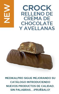 Crock relleno de crema de chocolate y avellana