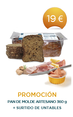 Pan de molde artesano + Surtido de untables
