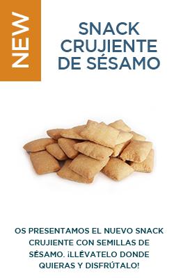 Snack crujiente de sésamo